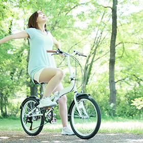 ⑤レンタル自転車でお出かけも◎
